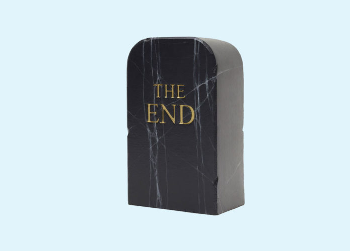 The End (black) by Maurizio Cattelan