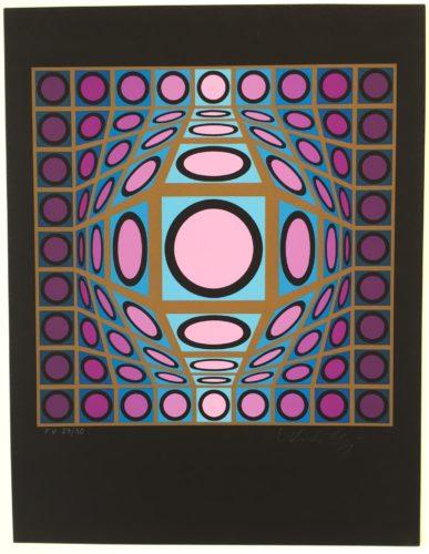 Composition Microcosmos Iv by Victor Vasarely
