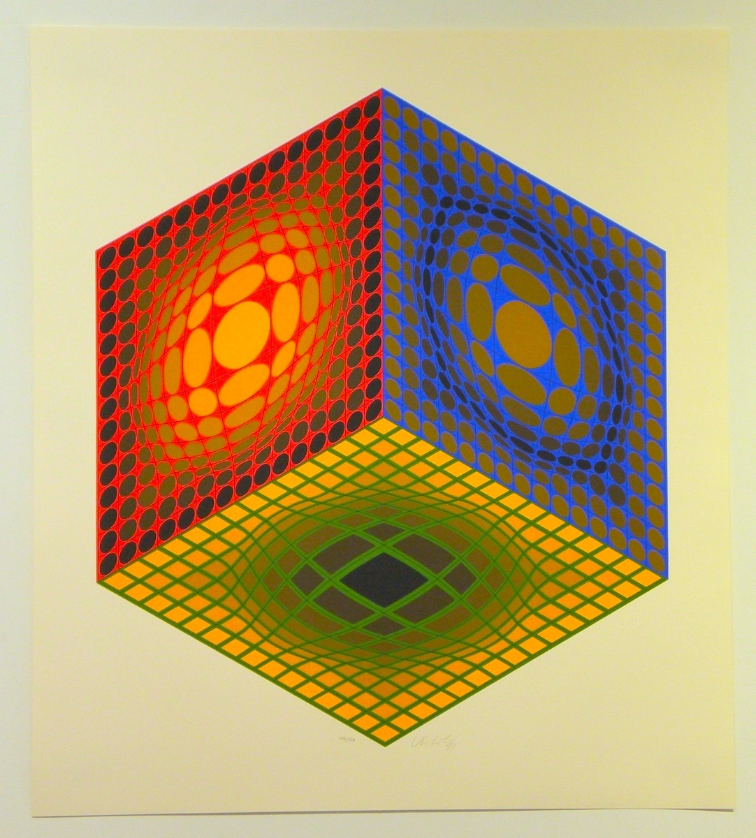 Cube by Victor Vasarely
