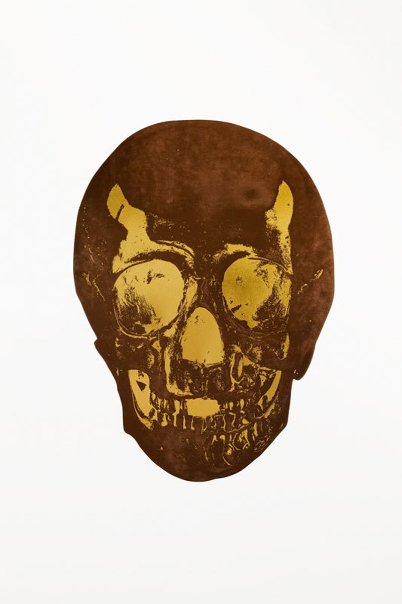 The Dead (chocolate Oriental Gold Skull) by Damien Hirst