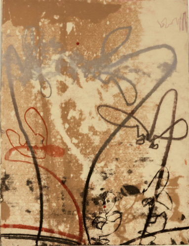 Flowerage With Blue 6 by Nancy Lasar at VanDeb Editions
