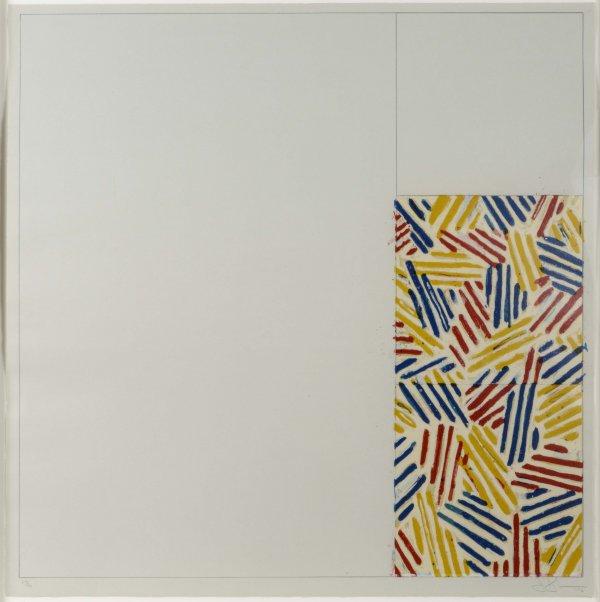 Jasper Johns Crosshatched Prints: #4 (After Untitled 1975) By Jasper Johns