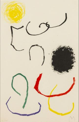 Obra Inedita Recent (plate Xi) by Joan Miro