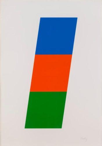 Blue, Red-orange, Green by Ellsworth Kelly