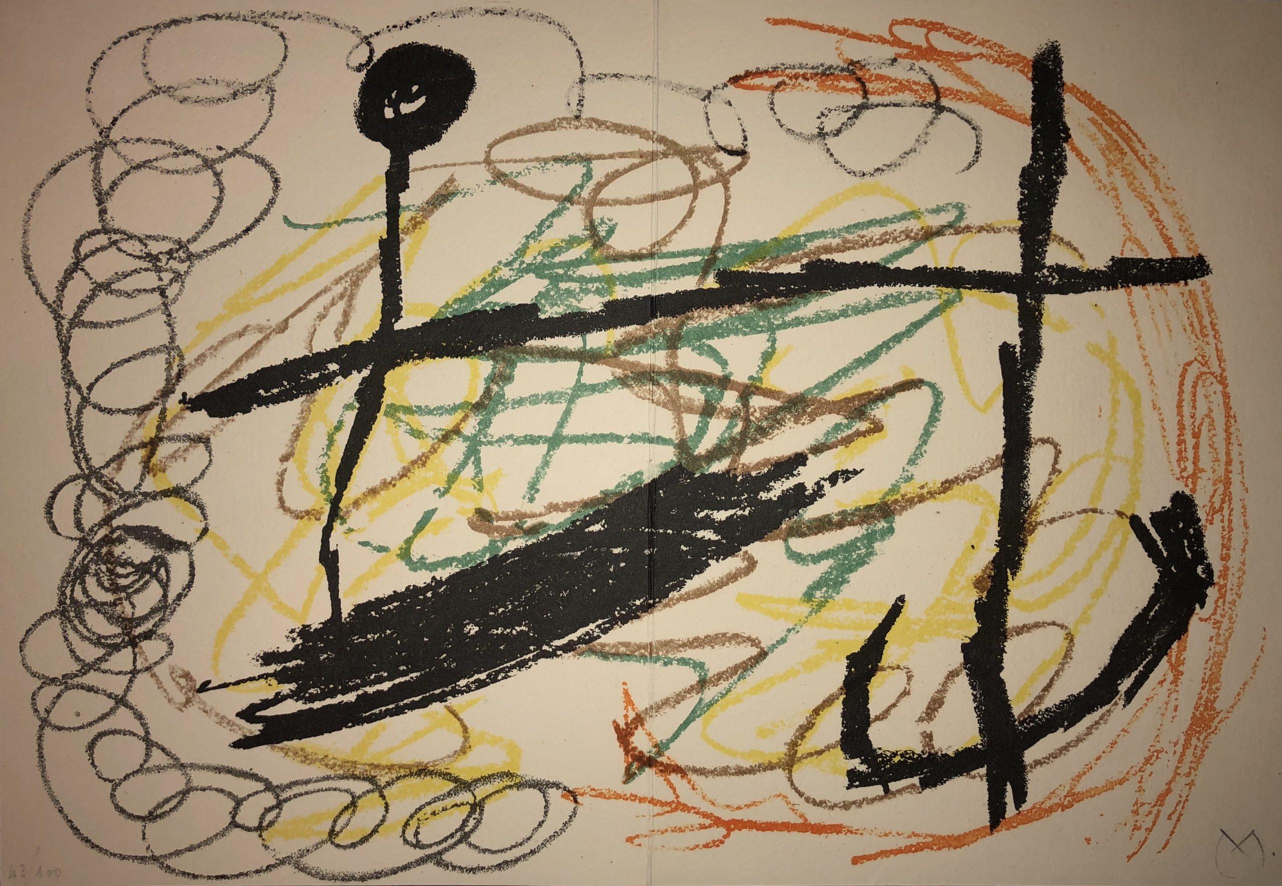 Obra Inedita Recent (plate IX) by Joan Miro