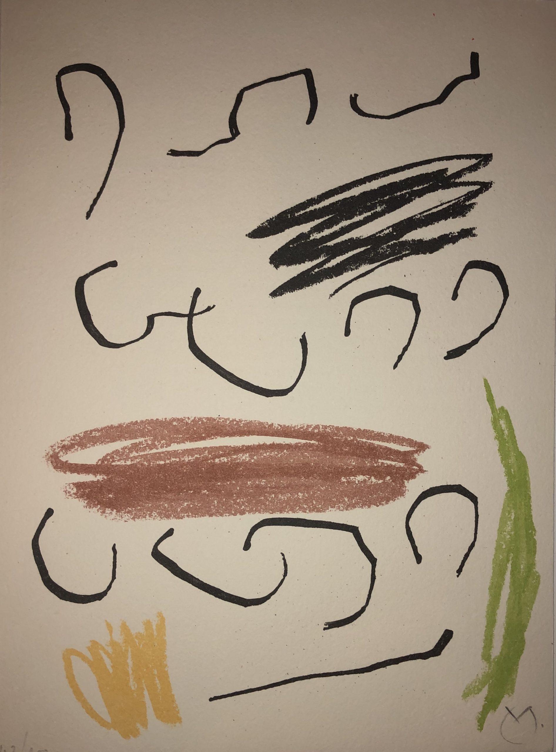 Obra Inedita Recent (plate VII) by Joan Miro