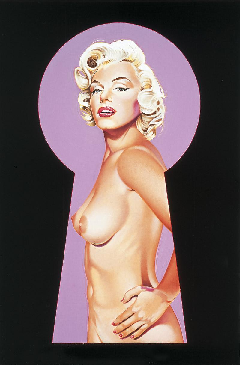 Peek-a-boo Marilyn 2 by Mel Ramos
