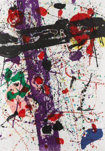 """Untitled From """"eight By Eight"""" by Sam Francis"""