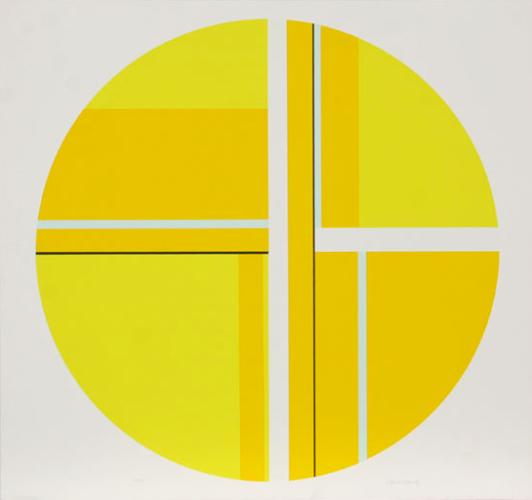 Untitled (Yellow Tondo) by Ilya Bolotowsky at
