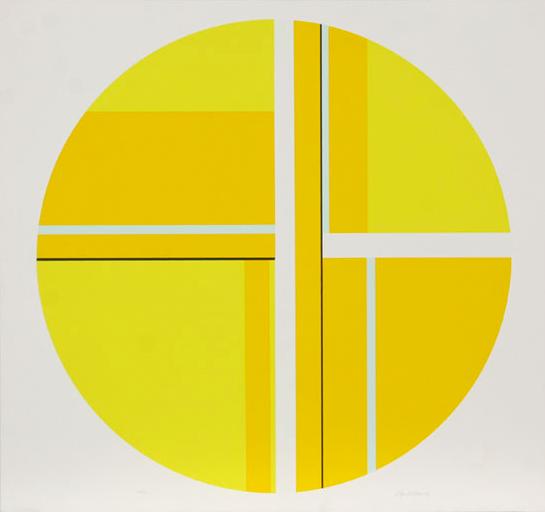 Untitled (Yellow Tondo) by Ilya Bolotowsky