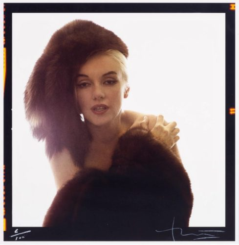 Marilyn With Fur Hat by Bert Stern