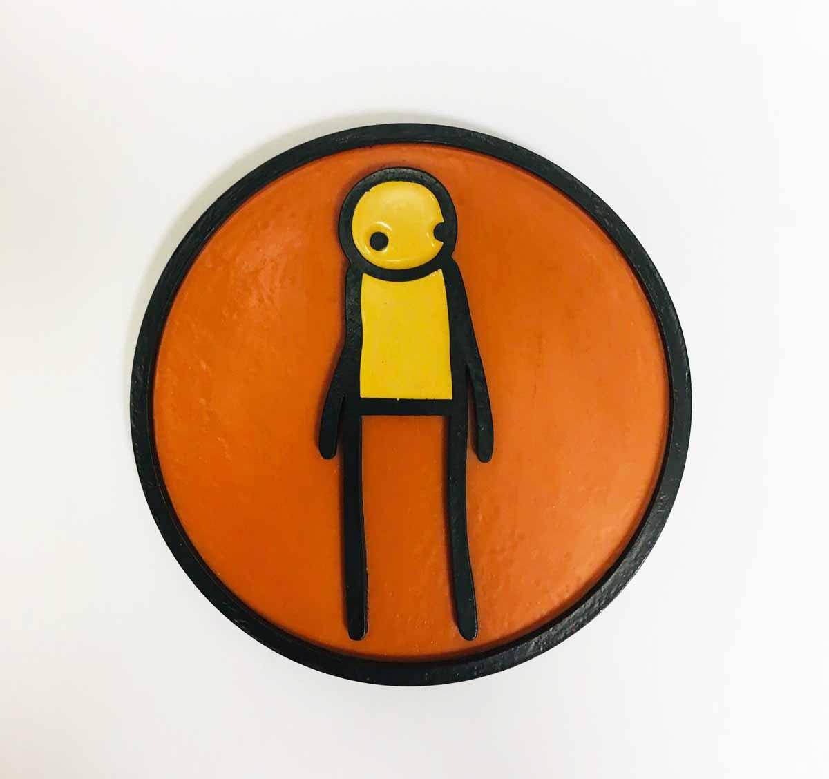 Plaque (orange) by STIK