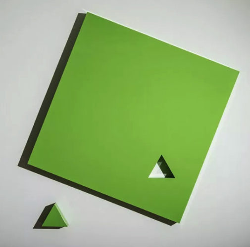 Piece (green) by Lori Cozen-Geller