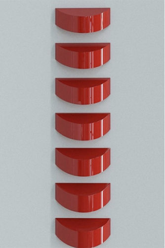 Oblivion, Red (set Of 7) by Lori Cozen-Geller