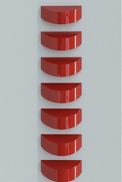 Oblivion, Red (set Of 7) by Lori Cozen-Geller