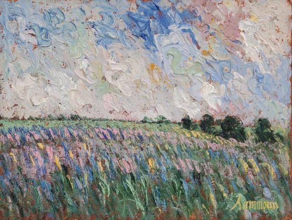 Wild Lavender Field by Samir Sammoun at