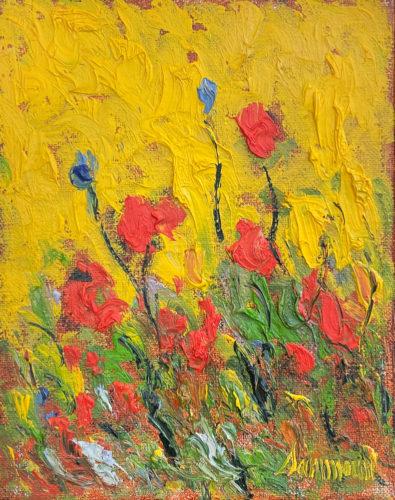 Poppies & Sun by Samir Sammoun at