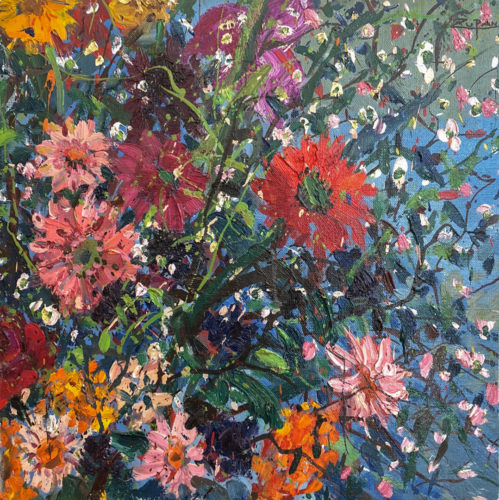 Zinnias Bouquet by Bruno Zupan