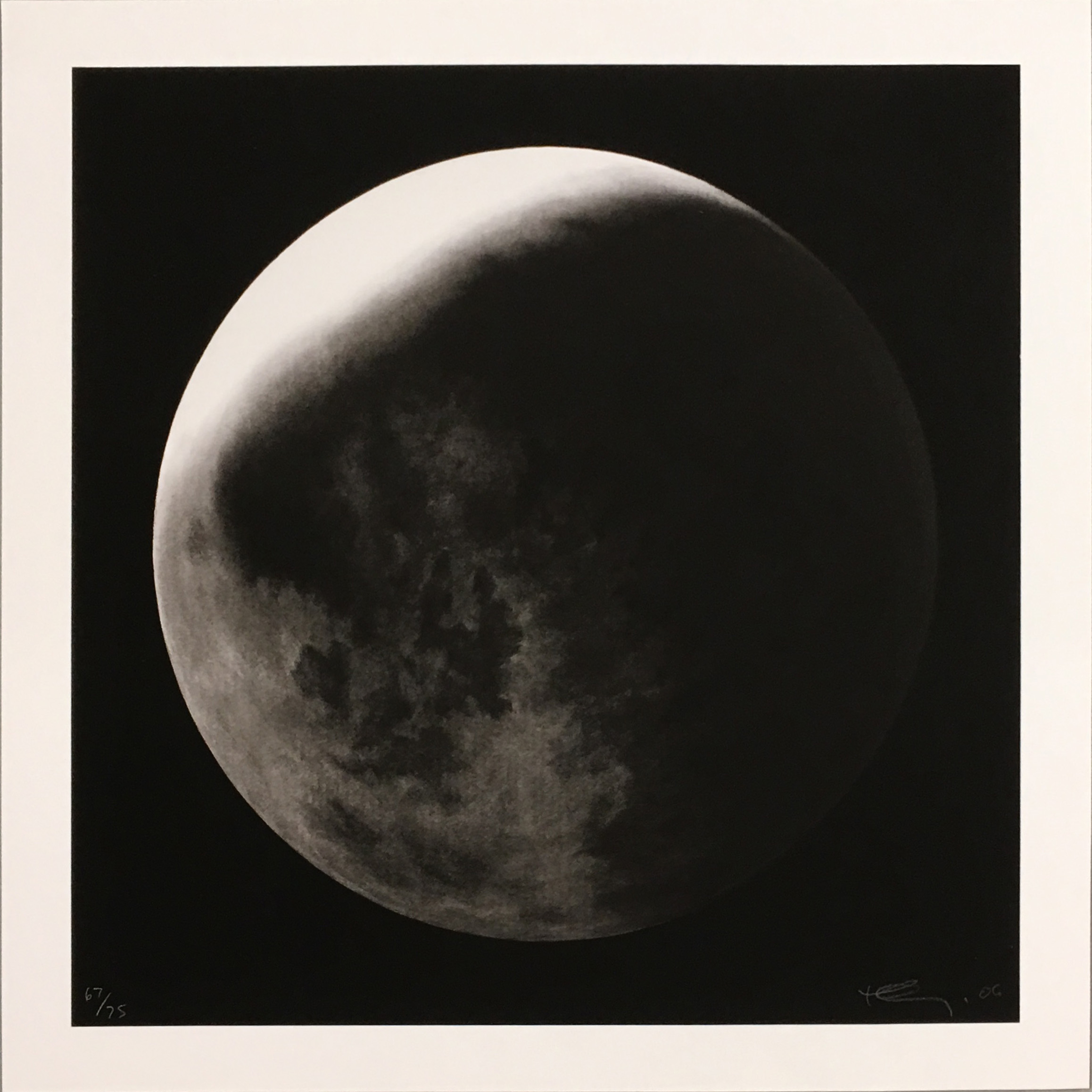 Untitled (moon In Shadow) by Robert Longo
