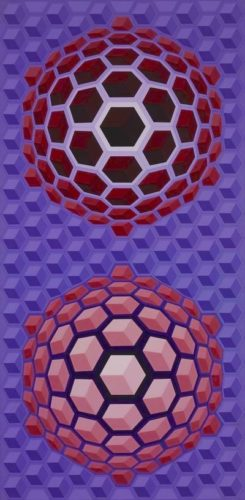 Purple Long by Victor Vasarely