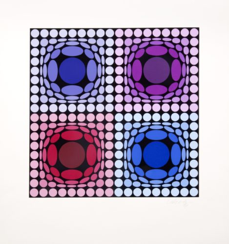 Stri-arch by Victor Vasarely