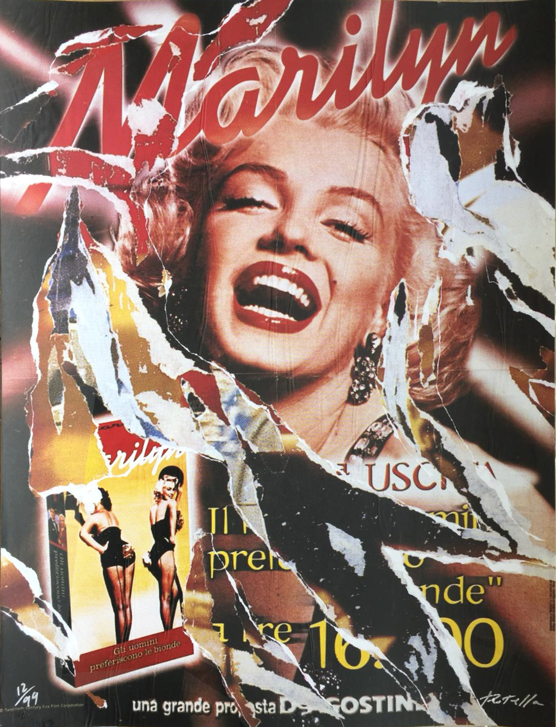 Marilyn Allegra by Mimmo Rotella