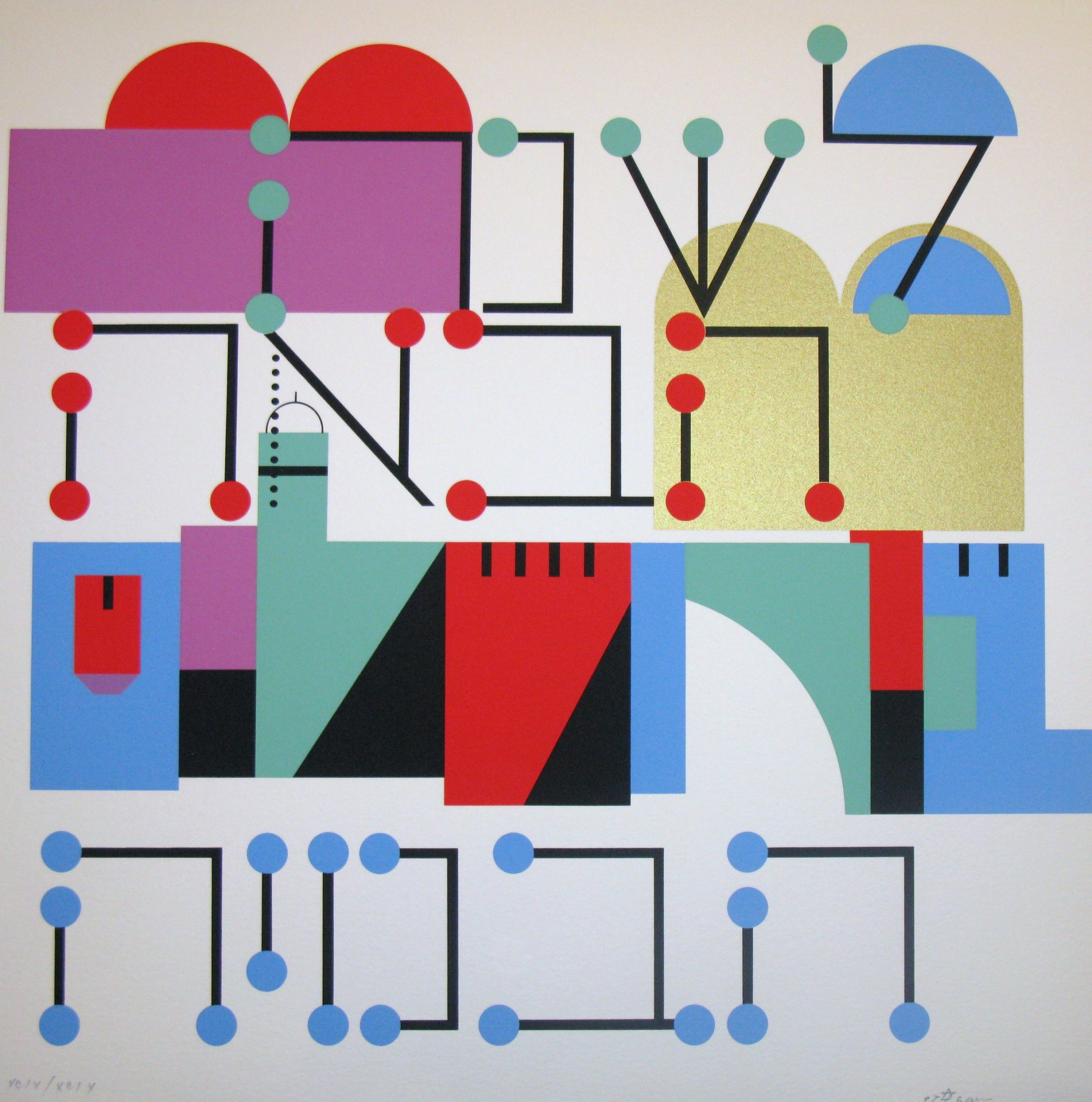 Next Year In Jerusalem by Yaacov Agam