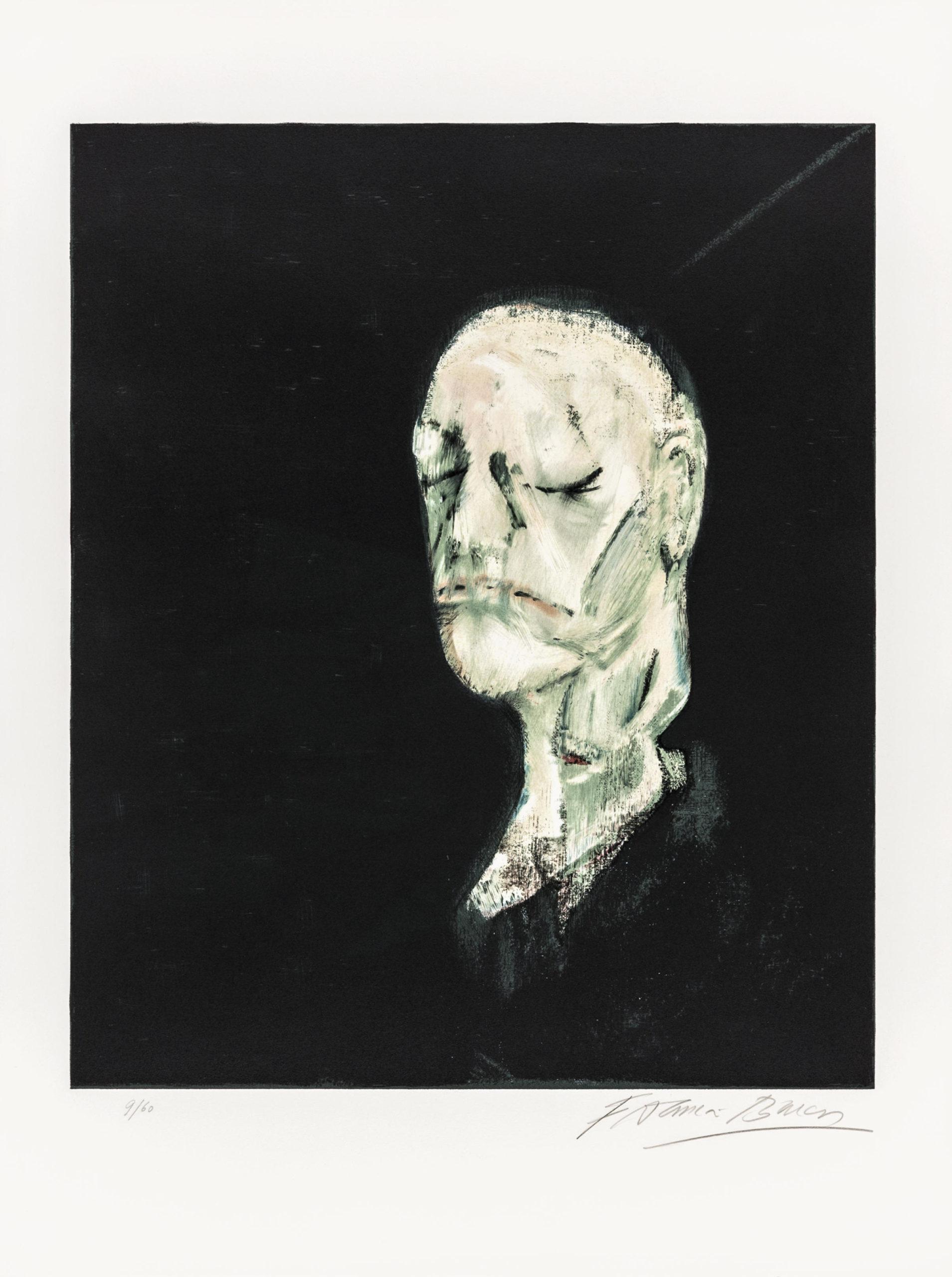 Masque Mortuaire De William Blake by Francis Bacon