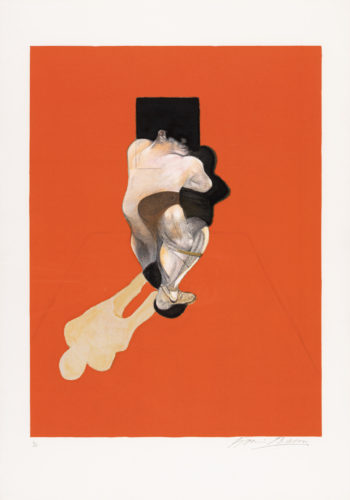 Triptych 1983 Center by Francis Bacon