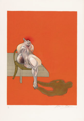 Triptych 1983 Left by Francis Bacon