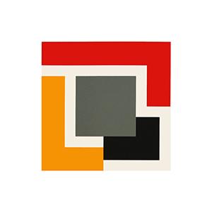 Grey, Red, Yellow, Black & Cream by Mary Webb
