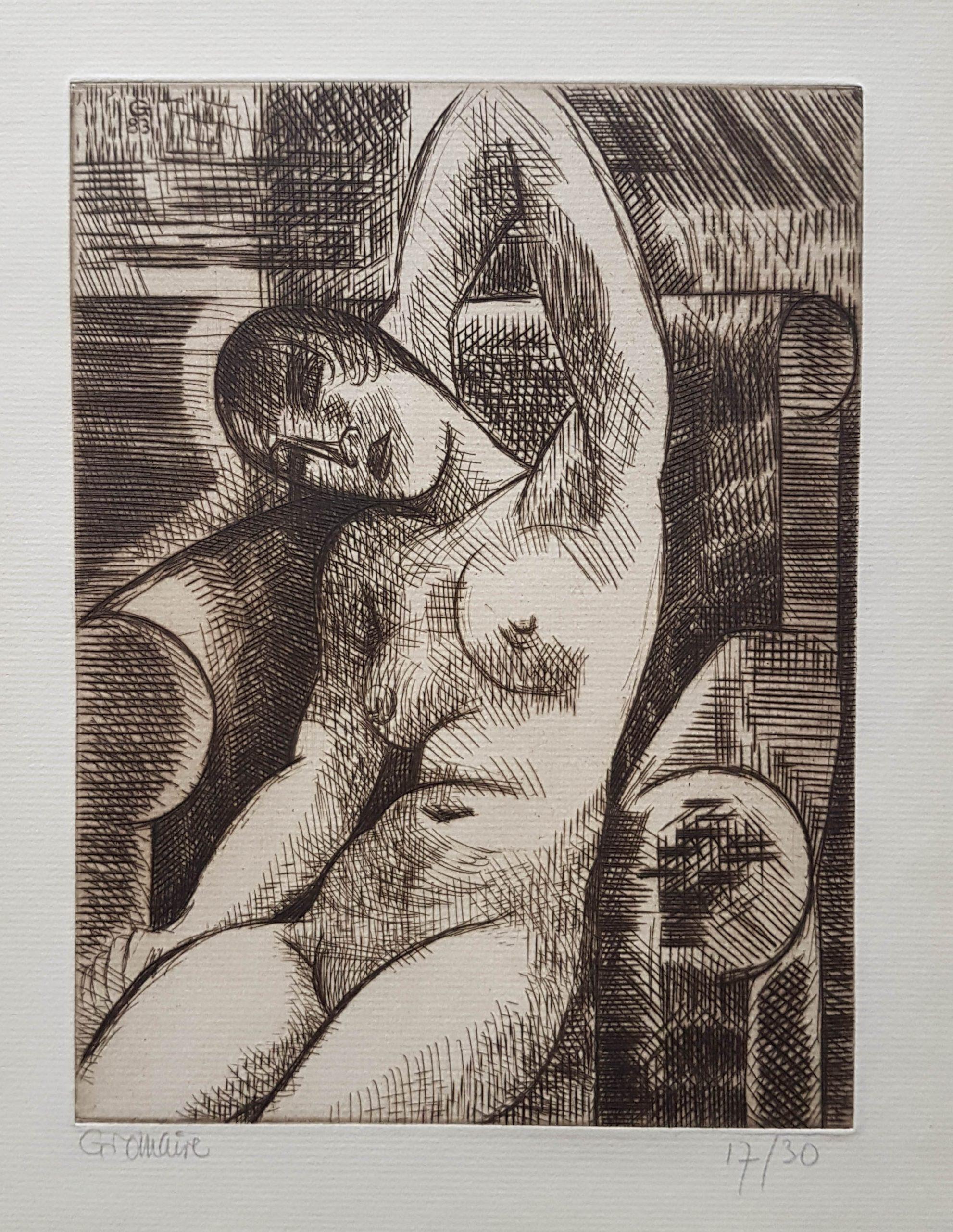 Nu, Bras Levé, S'étirant by Marcel Gromaire