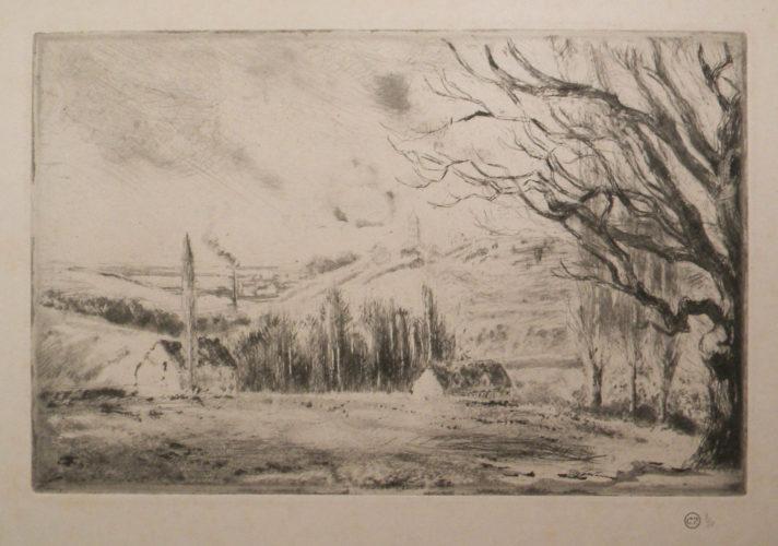 View Of Pontoise [vue De Pontoise] by Camille Pissarro