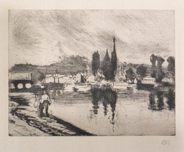 View Of Rouen, Cours-la-reine [vue De Rouen, Cours-la-reine] by Camille Pissarro at