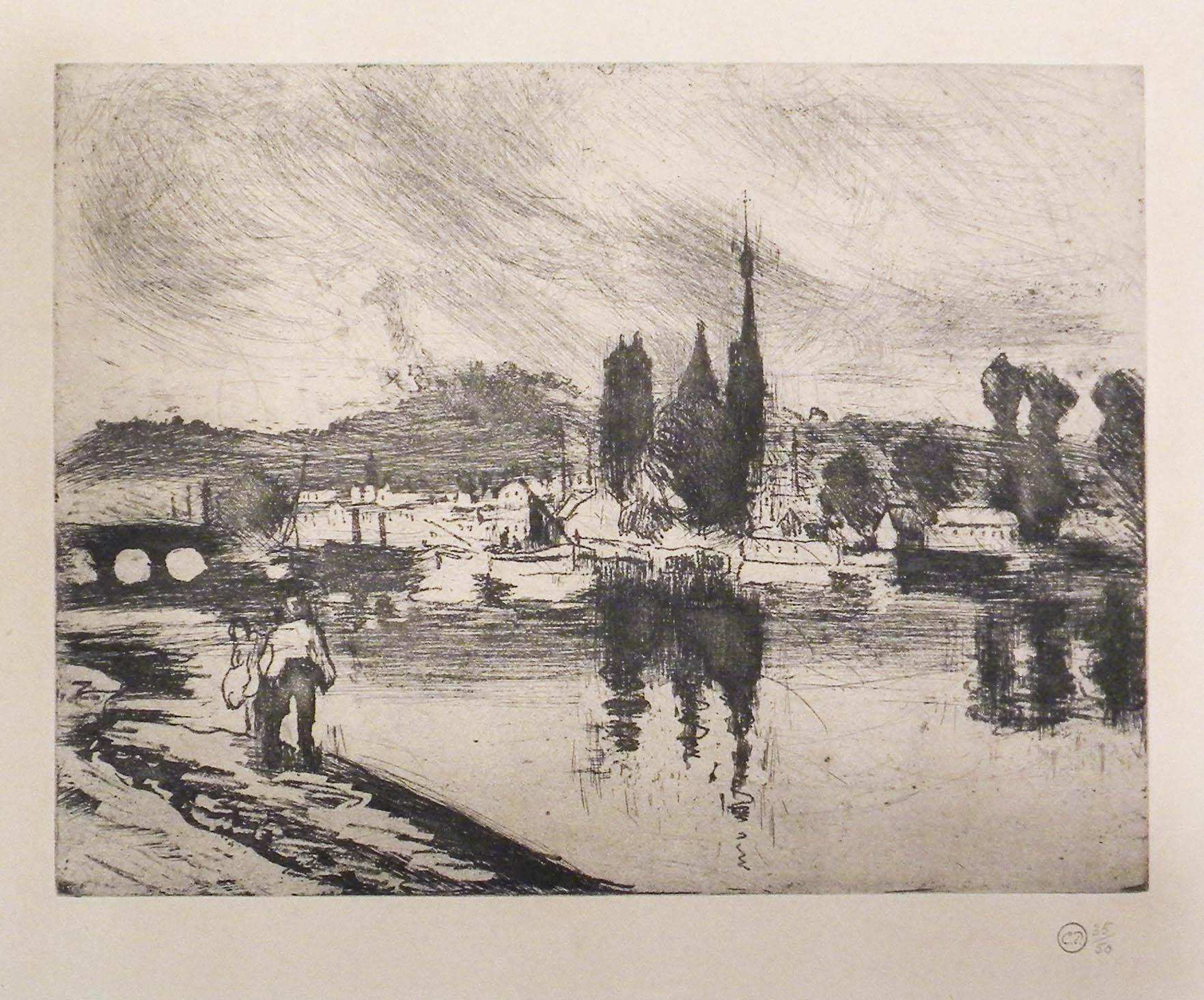 View Of Rouen, Cours-la-reine [vue De Rouen, Cours-la-reine] by Camille Pissarro