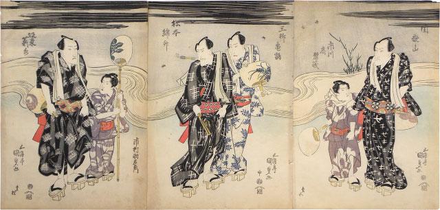 Kabuki Actors Enjoying The Evening Cool by Utagawa Kunisada (Toyokuni III)