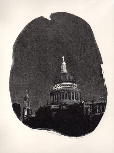 St Paul's: Dusk by Anne Desmet