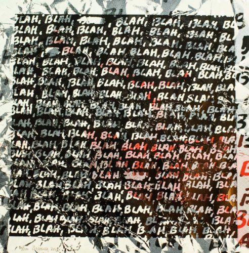 Blah, Blah, Blah + Background Noise – #80 by Mel Bochner at