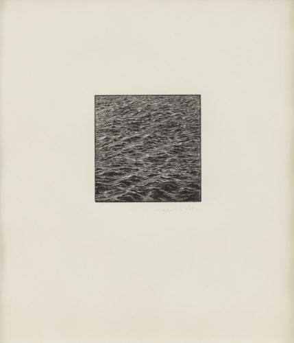 Untitled (ocean Woodcut) by Vija Celmins