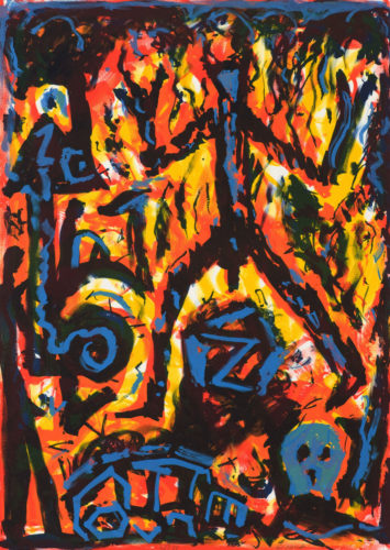 Flammen (flames) by A.R. Penck at
