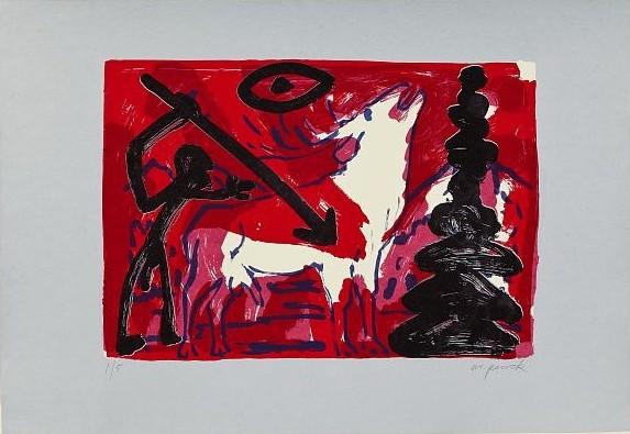 Kleiner Hirsch Vi (little Stag) by A.R. Penck
