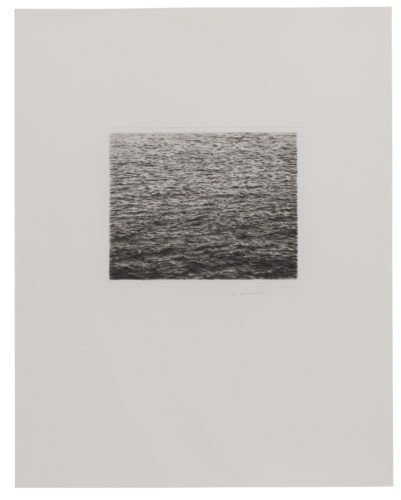Drypoint – Ocean Surface (Second State) by Vija Celmins at