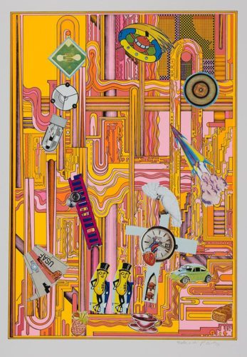 Mr Peanut (pink) by Eduardo Paolozzi