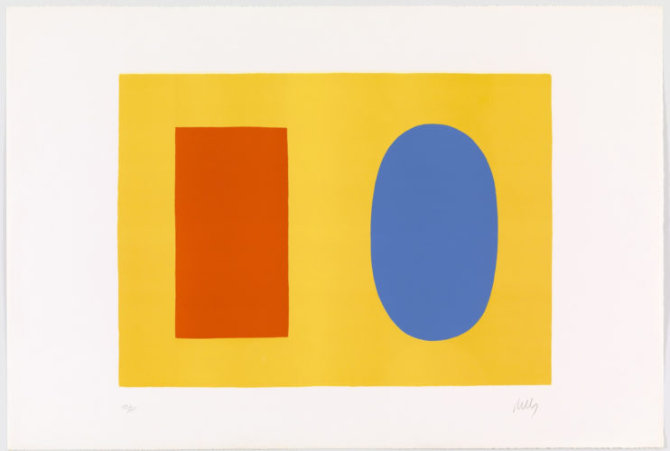 Orange & Blue Over Yellow by Ellsworth Kelly