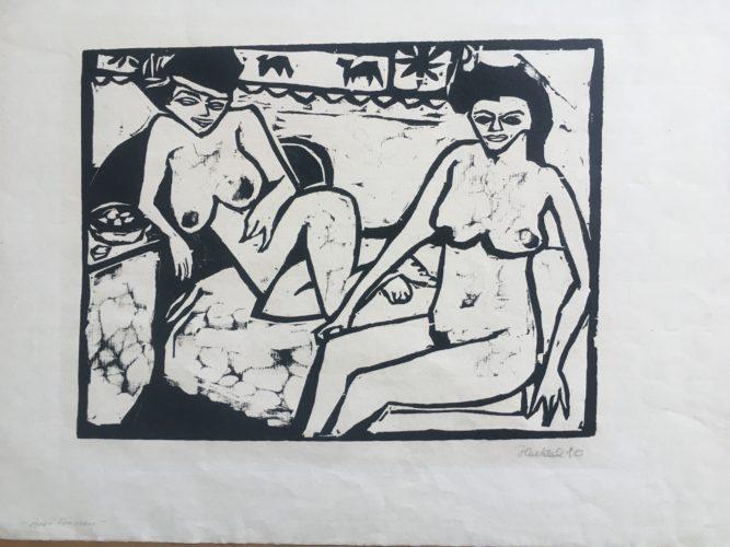 Zwei Frauen (two Women) by Erich Heckel