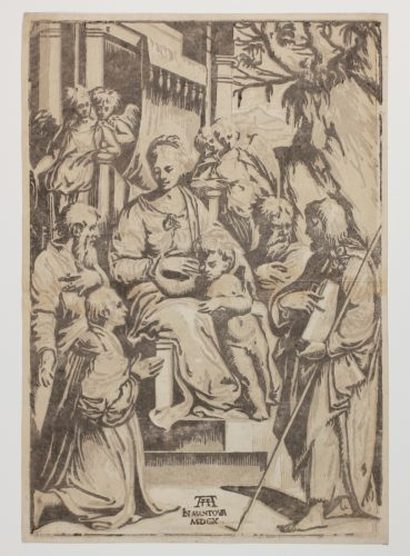 Die Muttergottes Mit Kind Und Heiligen (madonna With Child And Saints) by Alessandro Gandini