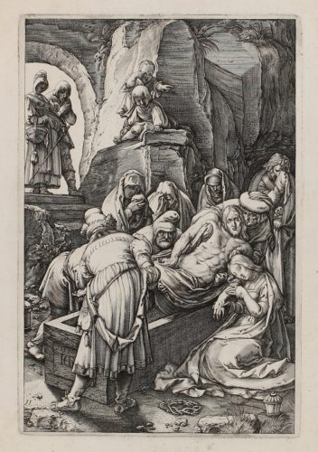The Entombment by Hendrik Goltzius at