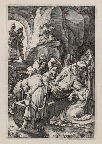 The Entombment by Hendrik Goltzius