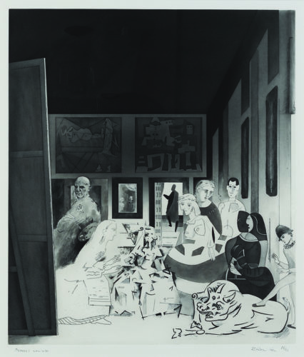 Picasso's Meninas by Richard Hamilton at Sims Reed Gallery (IFPDA)