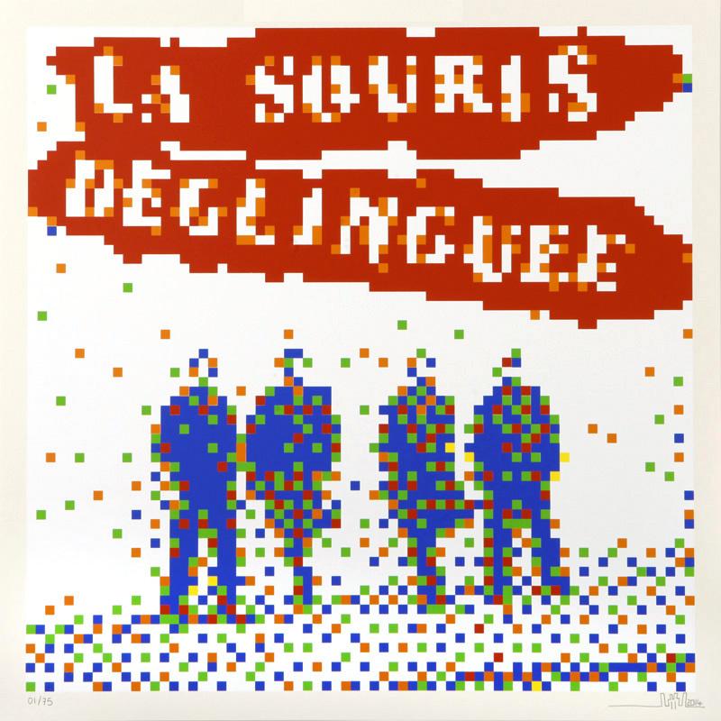 La Souris Delinguee by Invader
